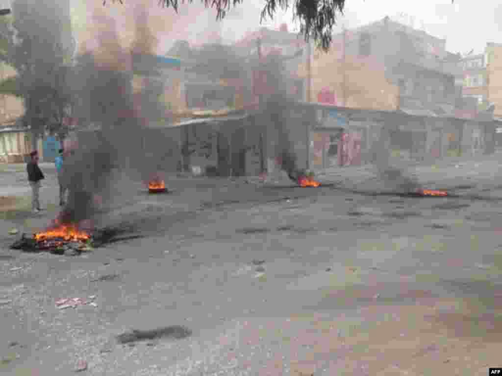 Протесты в Дария (под Дамаском) 6 февраля 2012г.