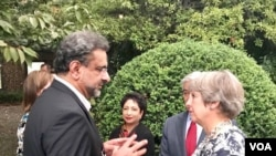 Pakistan prime minister, Khaqan Abbasi met British prime minister, Theresa May in NY Tuesday.