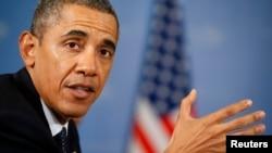 """Tổng thống Hoa Kỳ Barack Obama nói ông """"hết sức"""" tán đồng đường lối ngoại giao để ngăn chặn Syria sử dụng vũ khí hóa học."""
