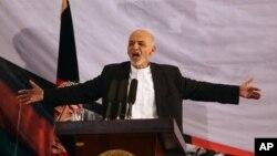 Tân Tổng thống Afghanistan Ashraf Ghani phát biểu tại một cuộc họp báo ở Kabul.