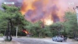 Marmaris'teki Orman Yangını Sürüyor: 1 Kişi Hayatını Kaybetti