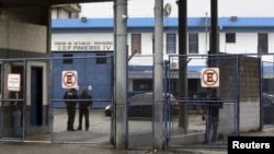 The entrance of Sao Paulo's Provisional Detention Centre Pinheiros (CDP Pinheiros) in Brazil, March 1, 2016. According to local media, Facebook's Diego Dzodan was transferred to CDP Pinheiros.