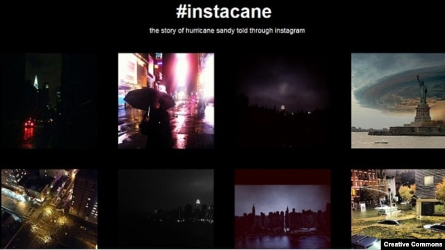 Hurricane Sandy on Instacane