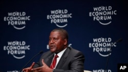 Nigerian billionaire businessman Aliko Dangote