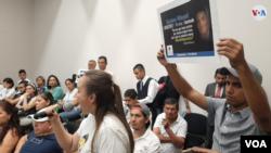 En fotos: CIDH escucha testimonios de venezolanos víctimas del gobierno en disputa de Nicolás Maduro.