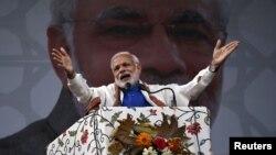 Thủ tướng Ấn Ðộ Narendra Modi trong cuộc vận động tại Srinagar, ngày 7/11/2015.