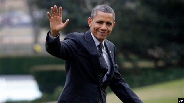 Presiden AS Barack Obama setelah menghadiri Konferensi Isu Demokratis Dewan Perwakilan Rakyat (7/2). (Foto: AP)