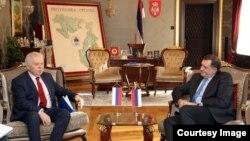 Milorad Dodik i Petar Ivancov u Uredu predsjednika RS, 31. januar 2018. godine.