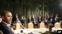 President Barack Obama at the Leaders Retreat at the APEC summit in Yokohama, Japan, Saturday, Nov. 13, 2010.
