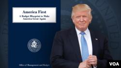 کاخ سفید لایحه بودجه را «اول آمریکا» نامیده که برگرفته از شعار انتخاباتی آقای ترامپ است.