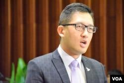 香港民主黨立法會議員林卓廷。(美國之音湯惠芸)