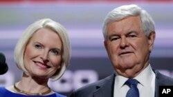 Каллиста Гингрич с мужем, экс-спикером Палаты представителей США Ньютом Гингричем