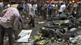Mesto eksplozije u indijskom gradu Hajderabadu