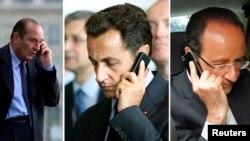 فرانس کے سابق دو سابق صدور اور موجودہ صدر