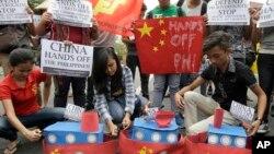 Sinh viên Philiipines trong một cuộc biểu tình chống Trung Quốc tại Manila ngày 3/3/2016 về vấn đề chủ quyền ở Biển Đông.