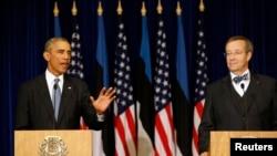 صدر اوباما اور ایسٹونیا کے صدر الویس کی مشترکہ پریس کانفرنس