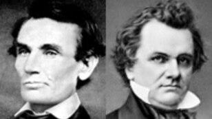 Abraham Lincoln and Stephen Douglas