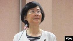 台湾法务部长罗莹雪(美国之音张永泰拍摄)