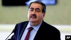 FILE - Iraqi Foreign Minister Hoshyar Zebari.