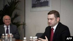 Šef pregovaračkog tima Srbije Borislav Stefanović tokom prvog dana pregovora