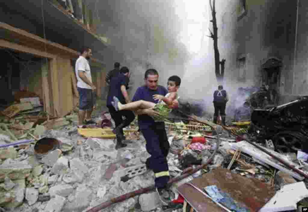 ლიბანის დედაქალაქ ბეირუთში აფეთქება მოხდა, 19 ოქტომბერი, 2012