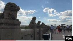 七七事變的盧溝橋。