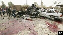 Barnar tashin bama bamai a Kirkuk Iraq.