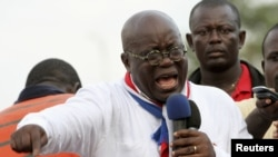 Ghana opposition leader Nana Akufo-Addo speaks during meeting in Accra to contest presidential election results December 11, 2012
