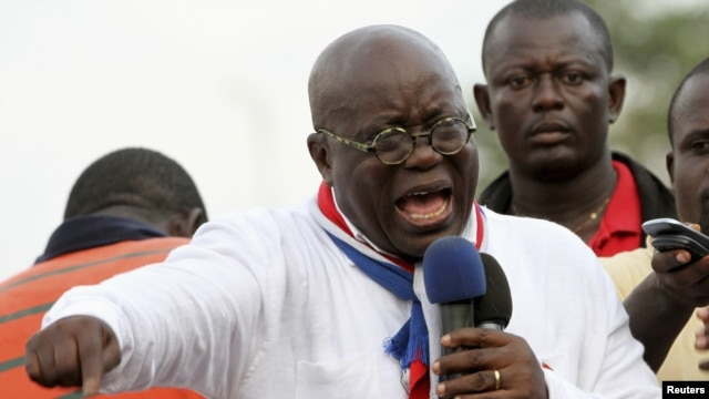 Ghana opposition leader Nana Akufo-Addo speaks during meeting in Accra to contest presidential election results, December 11, 2012
