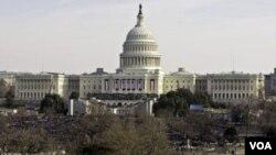 El capitolio de Estados Unidos durante la inauguración del actual presidente Barack Obama.
