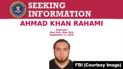 FBI poster seeking information on Ahmad Khan Rahami