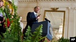 Predsednik Barak Obama govori u Beloj kući