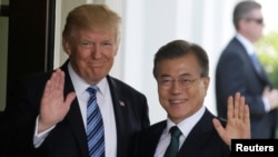 Дональд Трамп і Мун Чже Ін (архівне фото)