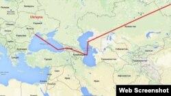 Ukrayna-Gürcüstan-Azərbaycan-Çin tranziti