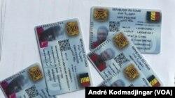 Les doubles des cartes imprimées par la Céni, à N'Djamena, au Tchad, le 7 avril 2021.