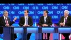 共和党四名总统候选人电视辩论