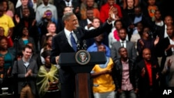 U.S. President Barack Obama delivers remarks and takes questions at a town hall meeting with young African leaders at the University of Johannesburg, Soweto campus, June 29, 2013.