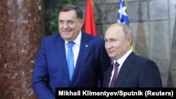 Predsjednik Rusije Vladimir Putin i član Predsjedništva BiH Milorad Dodik prilikom Putinove posjete Beogradu u januaru 2019. godine.