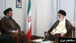 یکی از دیدارهای آیت الله علی خامنه ای و شیخ حسن نصرالله. آمریکا ایران را به حمایت از حزب الله متهم می کند.
