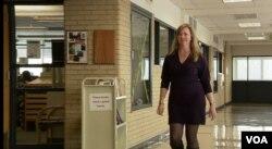 Columbine survivor Samantha Haviland is now director of counseling for Denver Public Schools, April 10, 2019. (M. Burke/VOA)