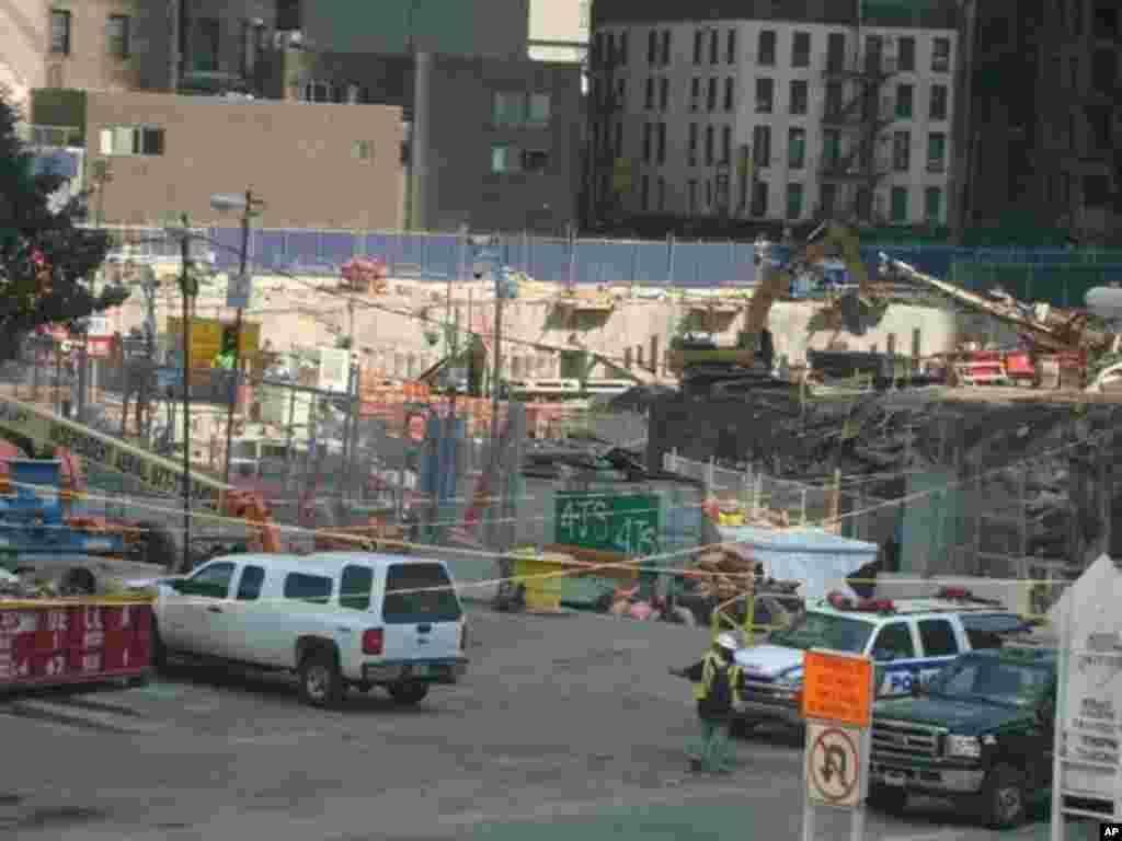 世貿中心正在施工的情況