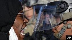 Demonstranti i pripadnici Nacionalne garde u Sent Polu