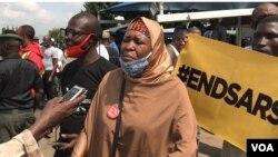 Zanga zangar #ENDSARS Aisha Yesufu
