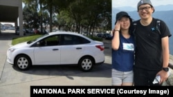 Jie Song, 30, and Yinan Wang, 31, were last seen in Sequoia National Park on Aug. 6, 2017. (COURTESY OF NATIONAL PARK SERVICE)
