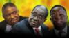 President Robert Mugabe with his two deputies, Phelekezela Mphoko (L) and Emmerson Mnangagwa (R). Collage by Ntungamili Nkomo