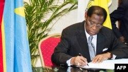 Alexis Thambwe Mwamba, ministre congolais de la Justice, à Kinshasa, le 1er janvier 2017