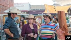 "Shirley MacLaine and Jack Black in a scene from ""Bernie"" (Photo courtesy Millenium Entertainment)"