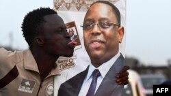 Un jeune partisan du président sénégalais sortant Macky Sall à Pikine, Sénégal, le 7 février 2019.