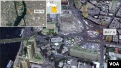 连日来出现示威抗议的埃及开罗解放广场地理位置