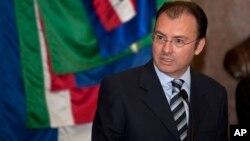 Foto de archivo de Luis Videgaray, el ministro de Hacienda que dimitió de su cargo.